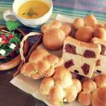 パン教室でパンダのパンと肉球パンを作ったよ
