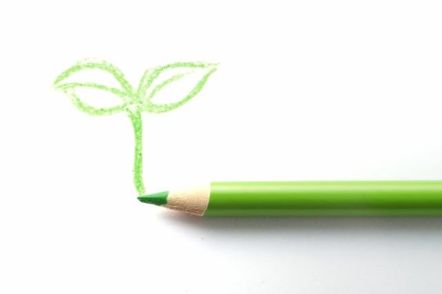 グリーンの色鉛筆