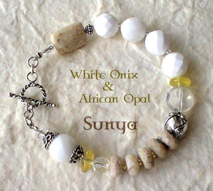 ホワイトオニキスのブレスレット