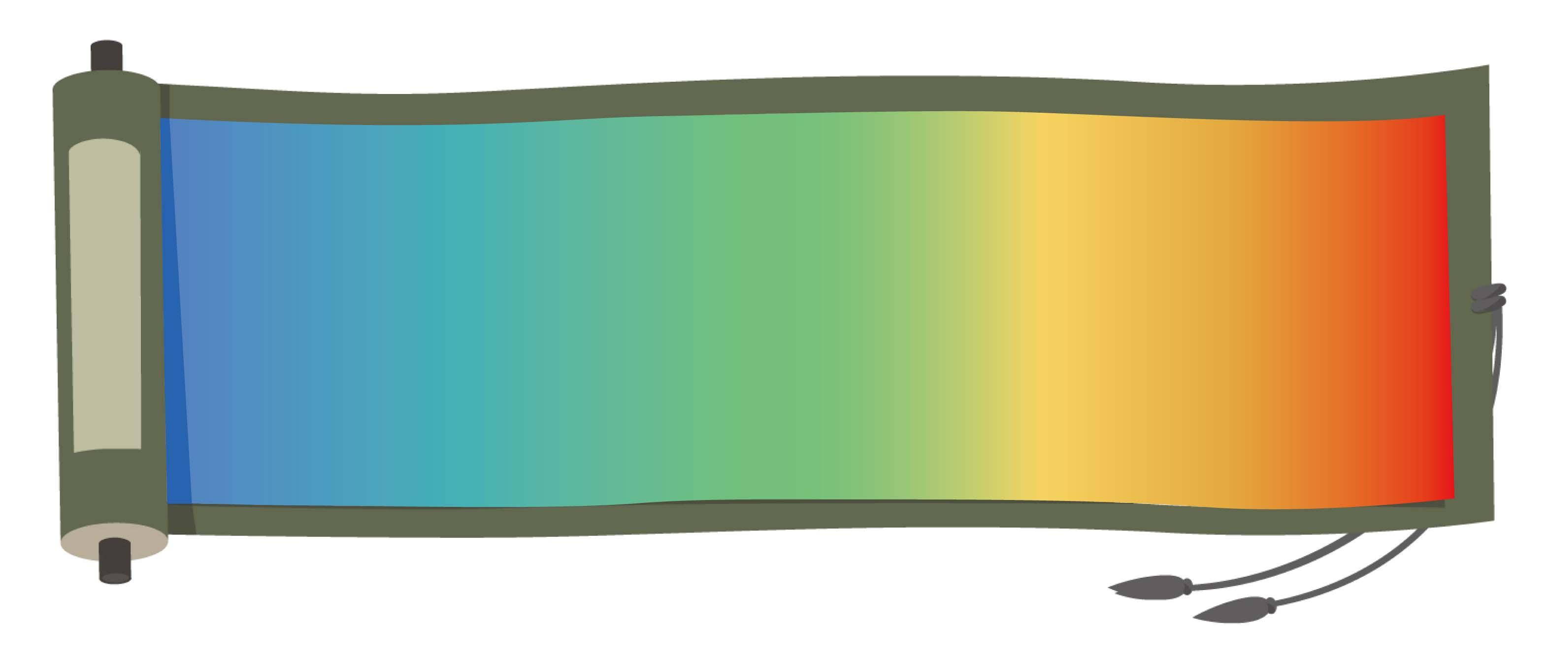 虹色の巻物